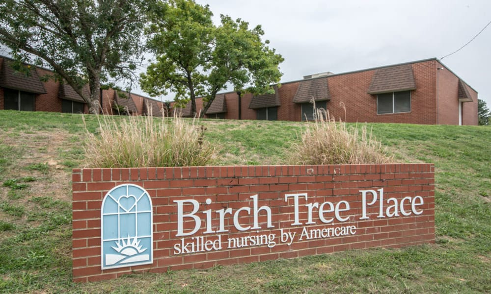 Branding and Signage outside of Birch Tree Place in Birch Tree, Missouri