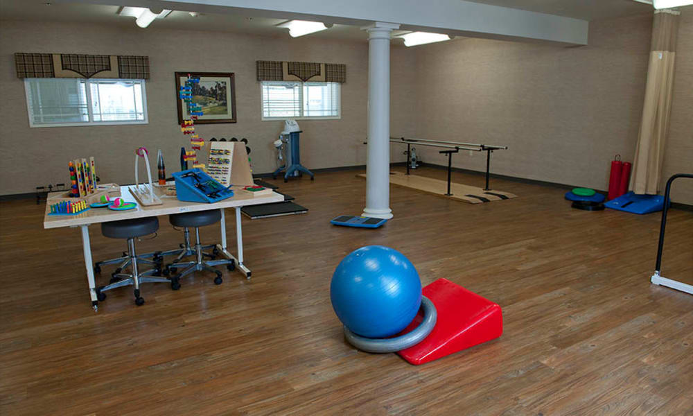 Physical therapy room at The Neighborhoods by TigerPlace in Columbia, Missouri