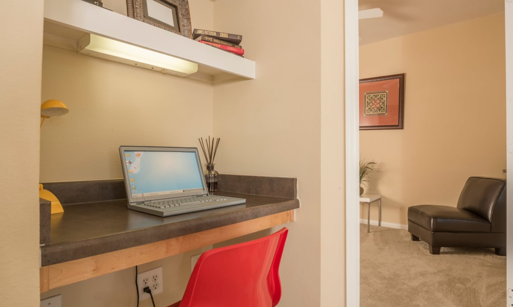 Office area in one of our Cambria Cove Apartments in Houston, Texas