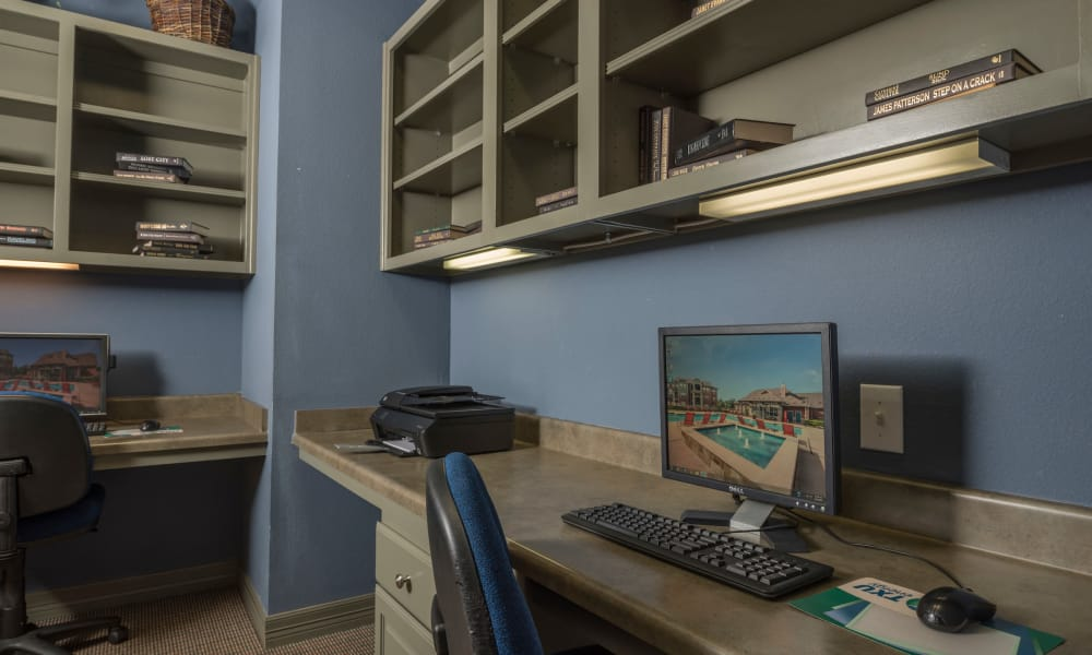 Office area at Cambria Cove Apartments in Houston, Texas