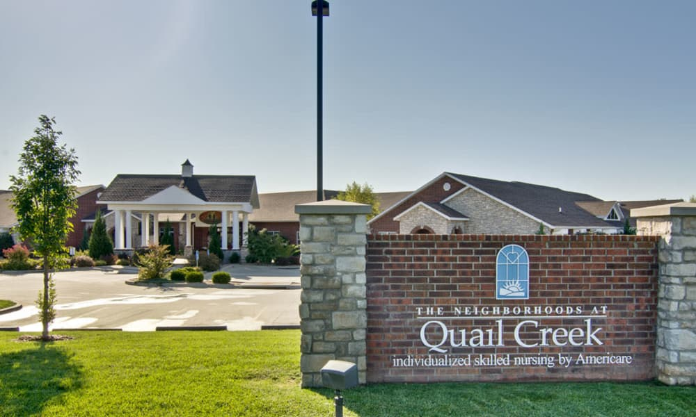 Branding and Signage outside of The Neighborhoods at Quail Creek in Springfield, Missouri