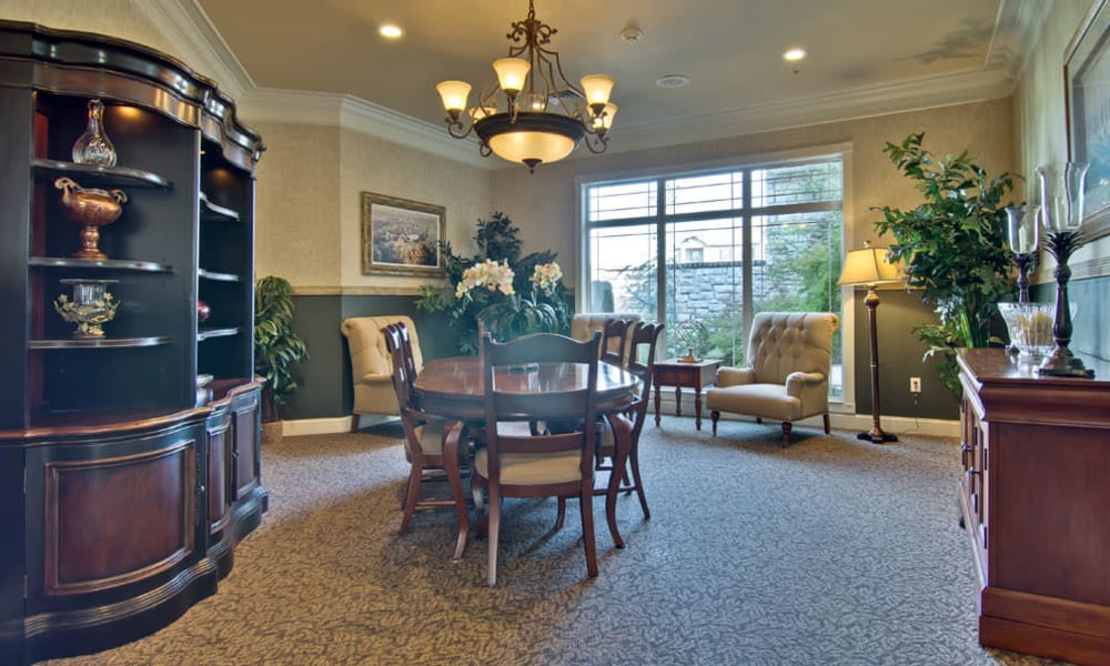 Private dining room at The Neighborhoods at Quail Creek in Springfield, Missouri