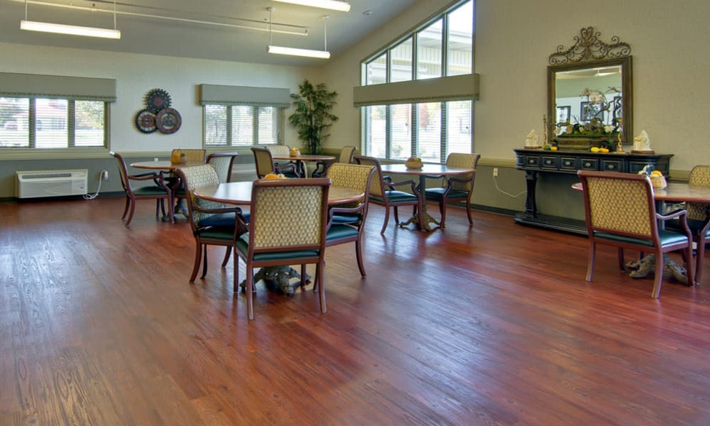 Dining area at the center of Heritage Hall in Centralia, Missouri