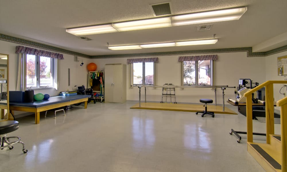 The exercise room at Heritage Hall in Centralia, Missouri