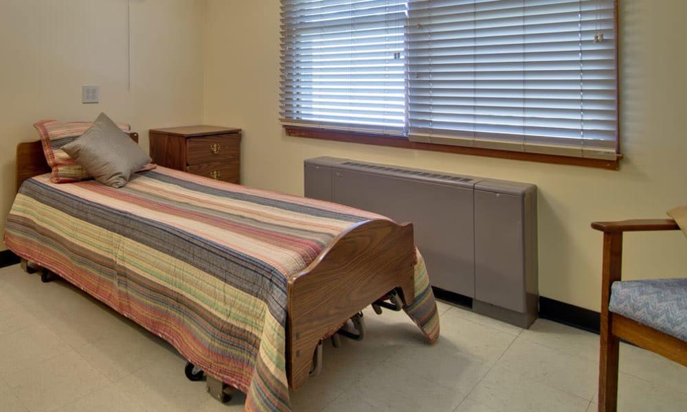 Single bedroom floor plan at Heritage Hall in Centralia, Missouri