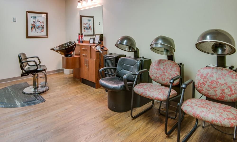 Residents' hair salon at Chaffee Nursing Center in Chaffee, Missouri
