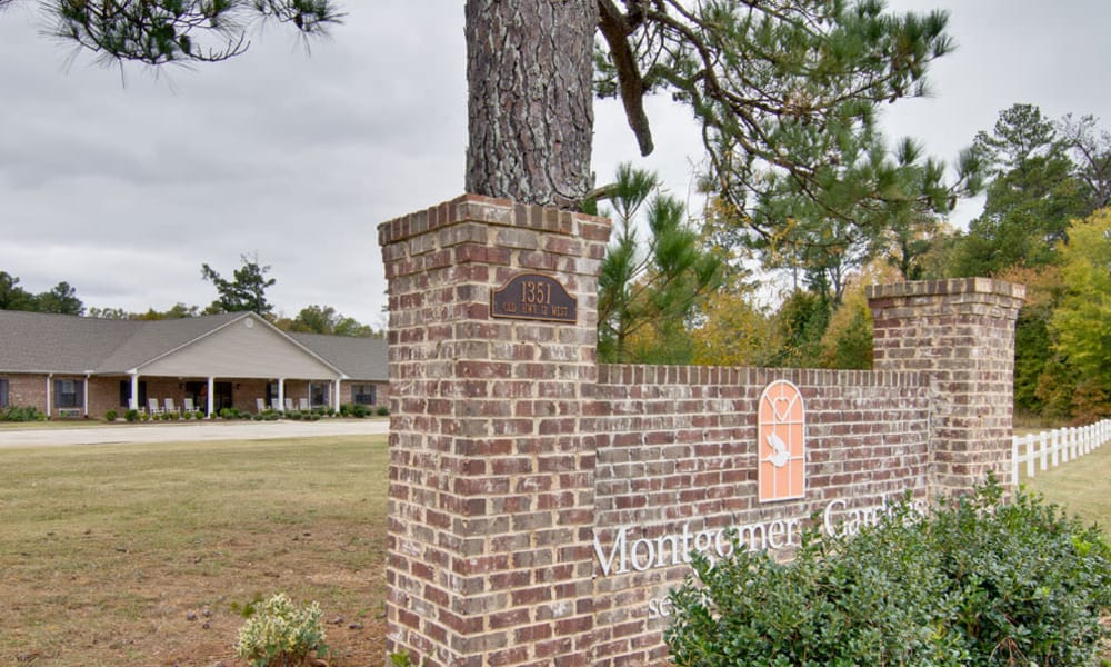 Branding and Signage outside of Montgomery Gardens in Starkville, Mississippi