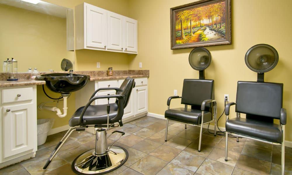 Community salon for residents at Montgomery Gardens in Starkville, Mississippi