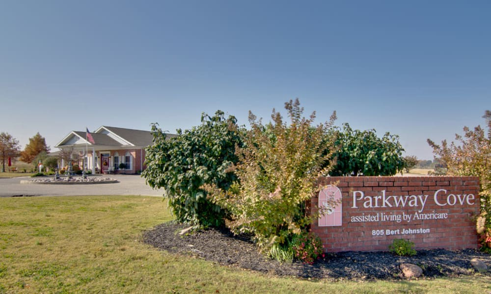 Branding and Signage outside of Parkway Cove in Covington, Tennessee