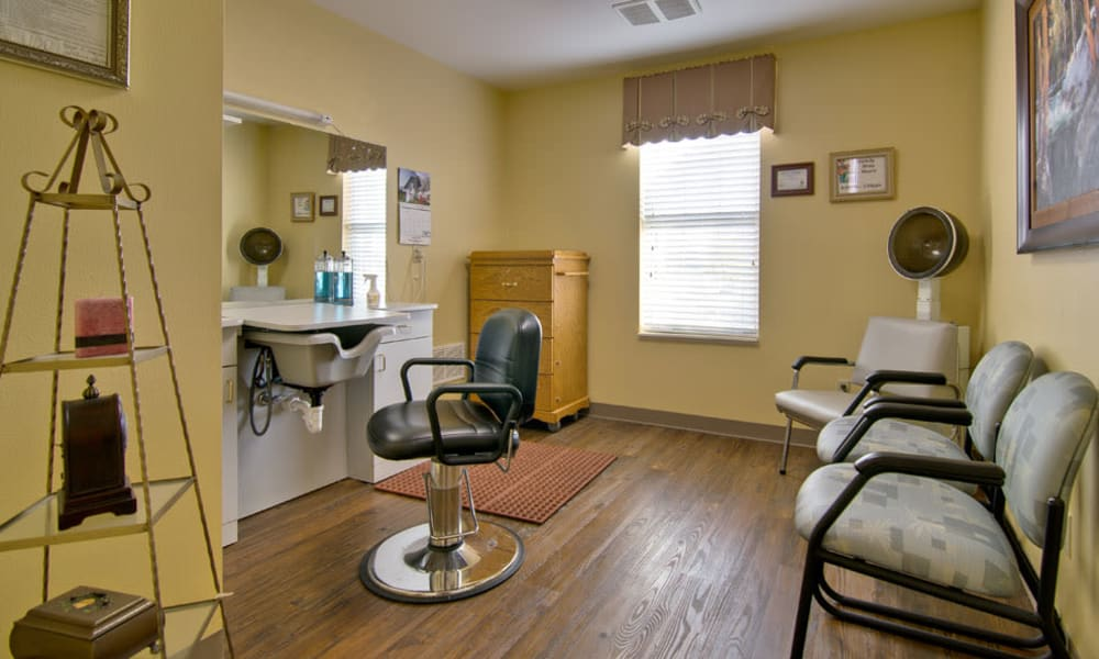 Community salon for residents at Parkway Cove in Covington, Tennessee