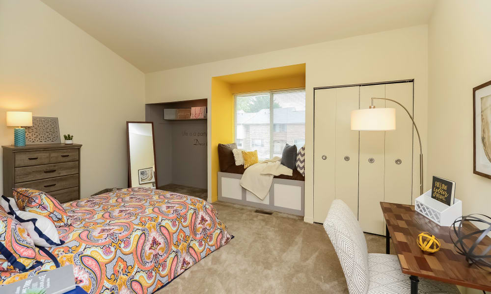 Bedroom at Briarwood Apartments & Townhomes in State College, PA