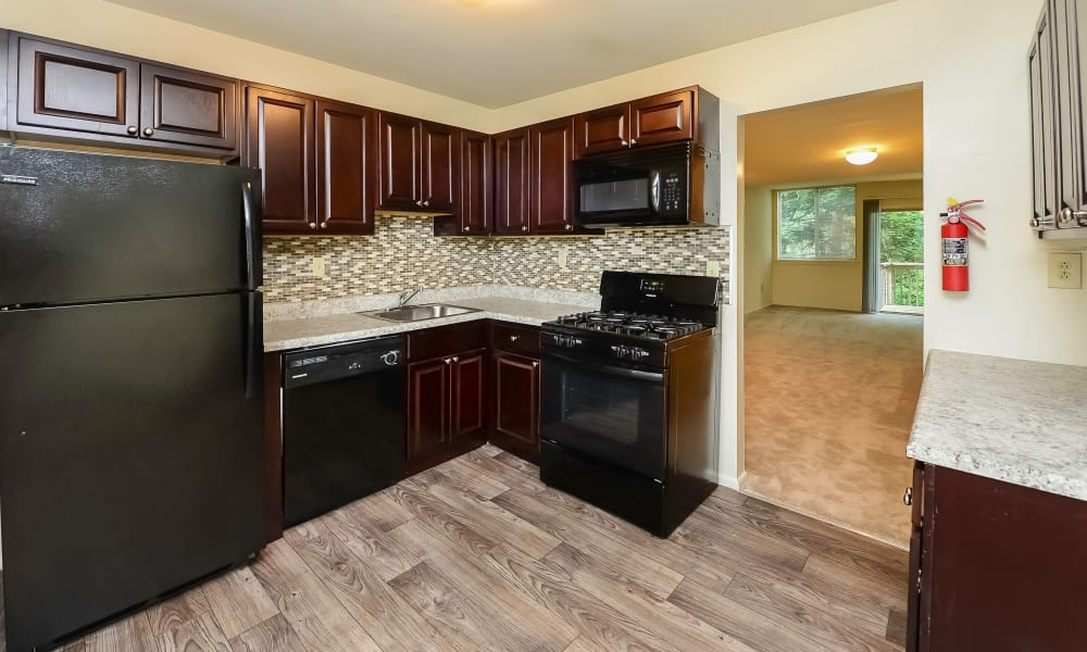 Modern Kitchen at Briarwood Apartments & Townhomes in State College, PA