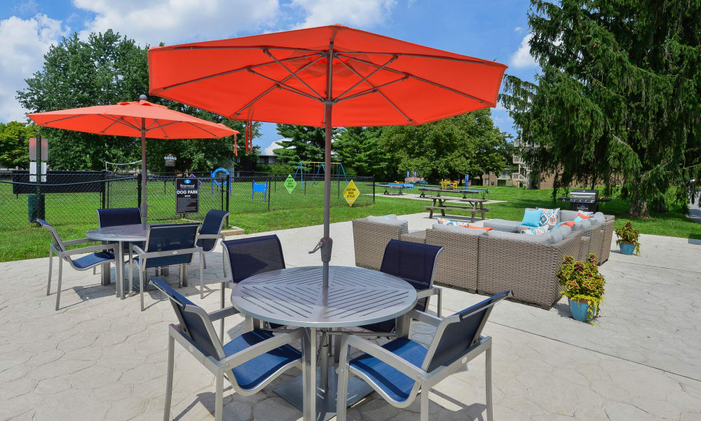 Patio at Briarwood Apartments & Townhomes in State College, PA