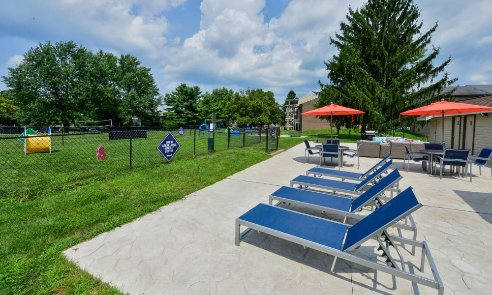 Outdoor Lounge Area at Briarwood Apartments & Townhomes in State College, PA