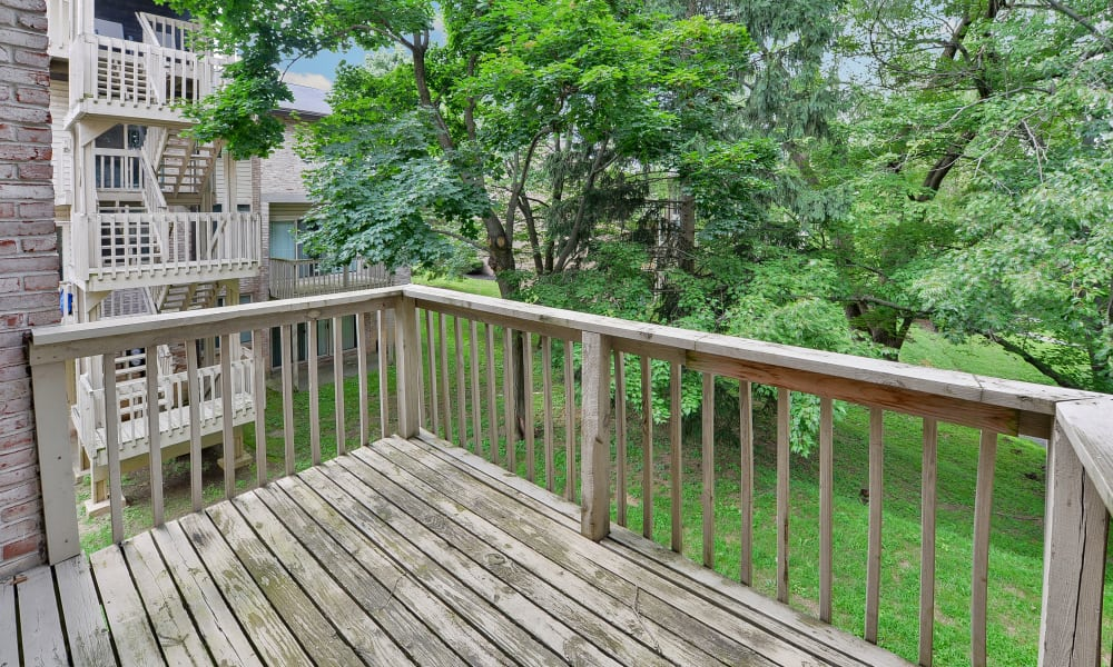 Deck at Briarwood Apartments & Townhomes in State College, PA