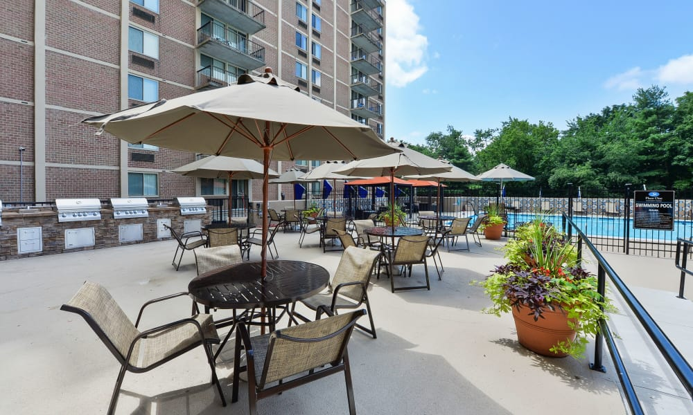 Beautiful apartments with a patio in Plymouth Meeting, Pennsylvania