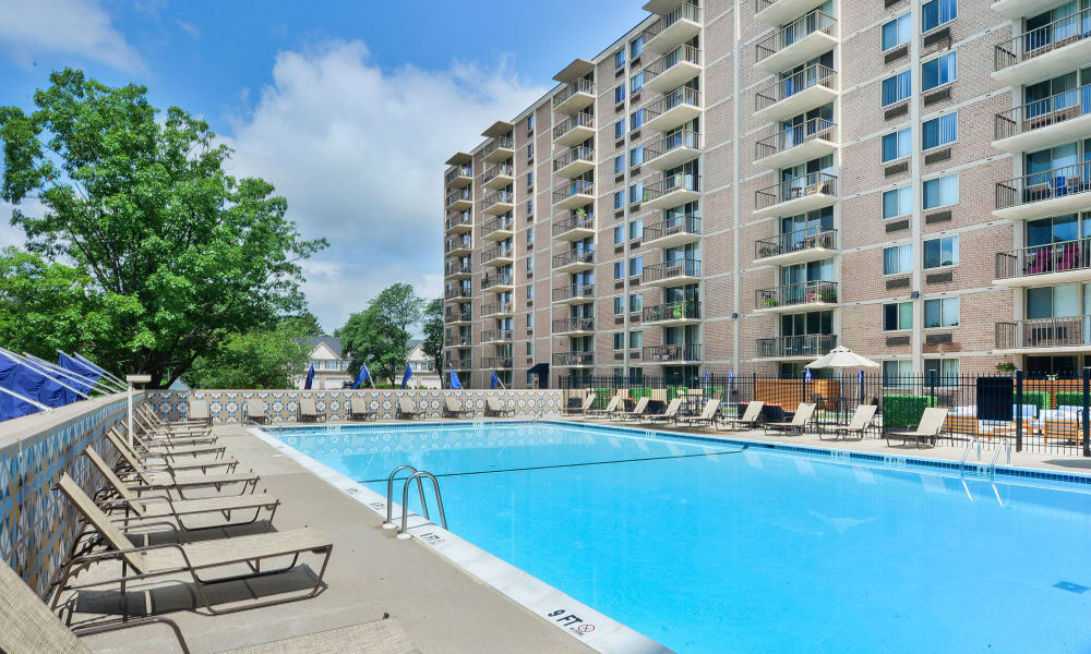 Swimming pool at Place One Apartment Homes in Plymouth Meeting, Pennsylvania