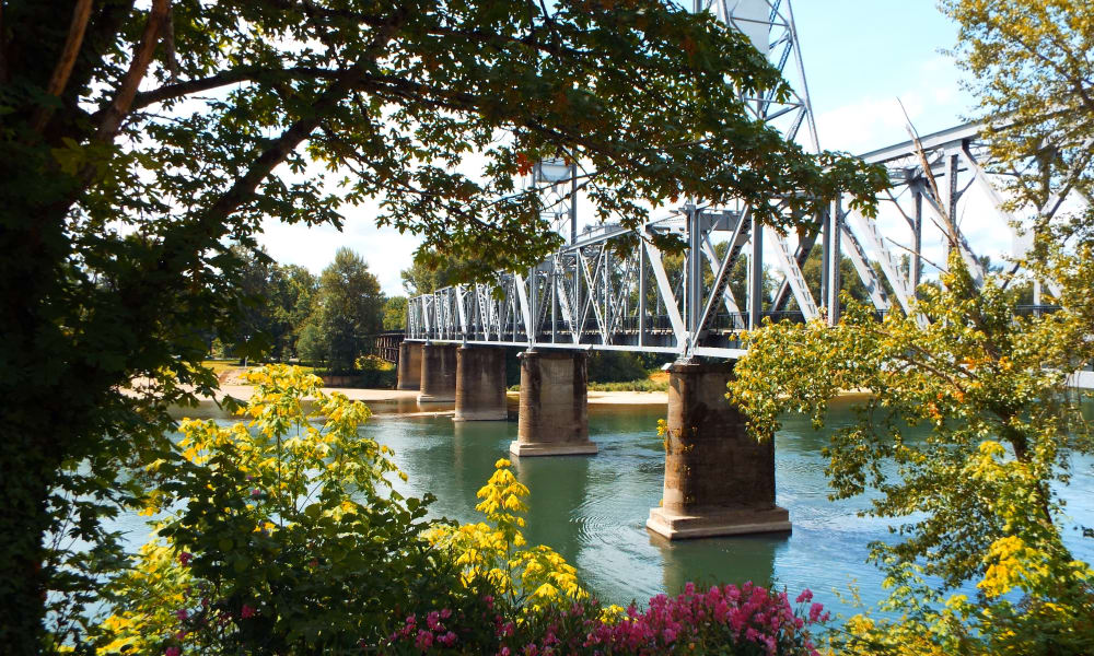 Driving bridge in Salem, Oregon