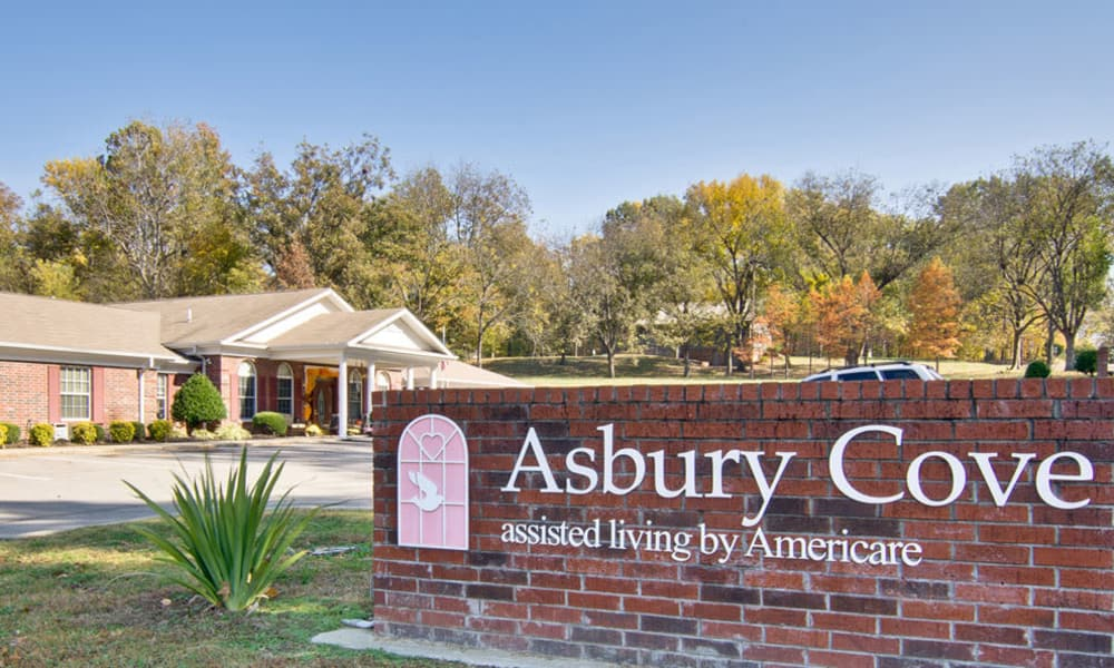Branding and Signage outside of Asbury Cove in Ripley, Tennessee