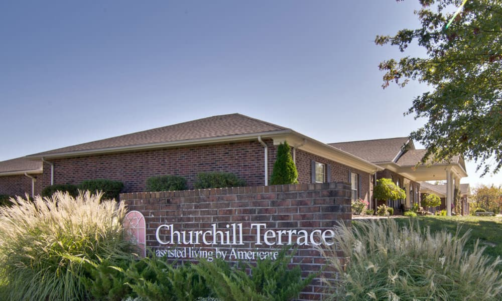 Branding and Signage outside of Churchill Terrace in Fulton, Missouri
