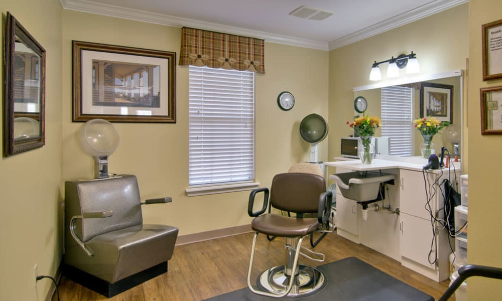 Community salon for residents at Greenbrier Meadows in Martin, Tennessee