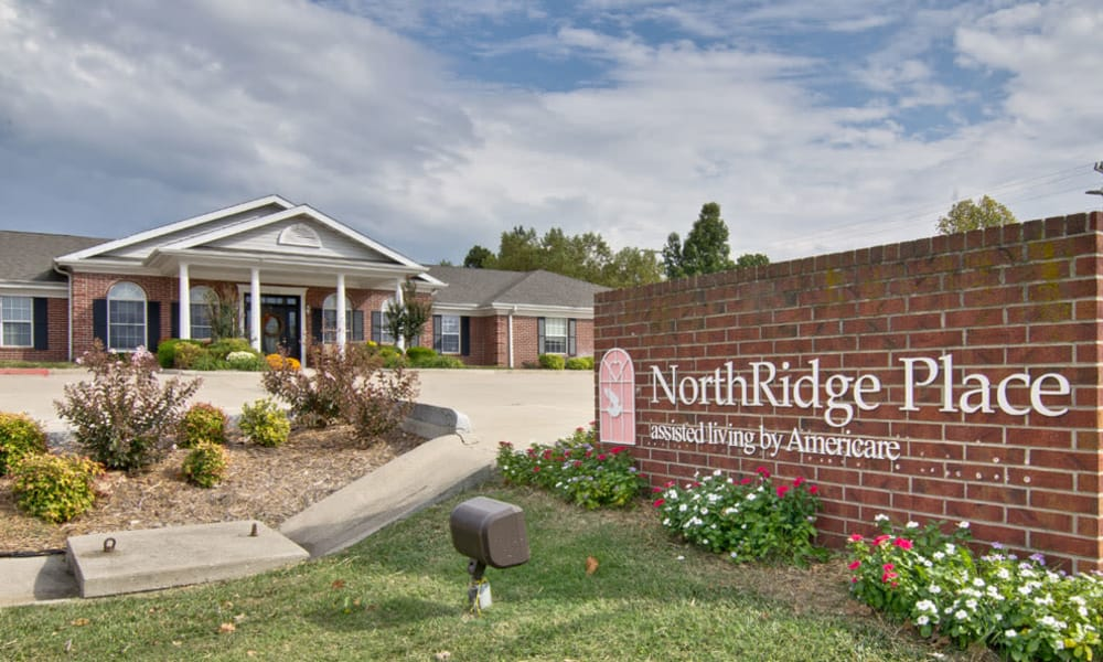 Branding and Signage outside of NorthRidge Place in Lebanon, Missouri