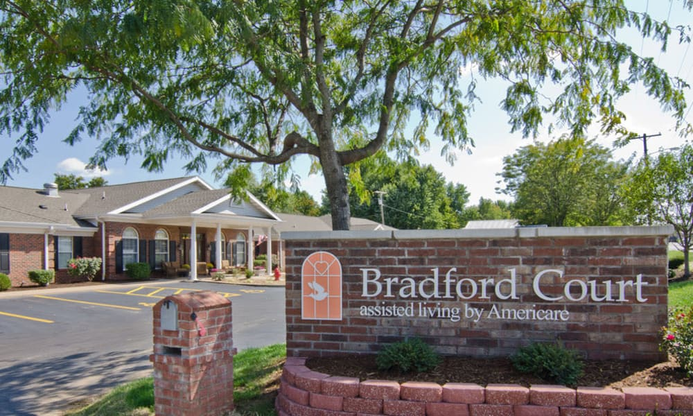 Branding and Signage outside of Bradford Court in Nixa, Missouri