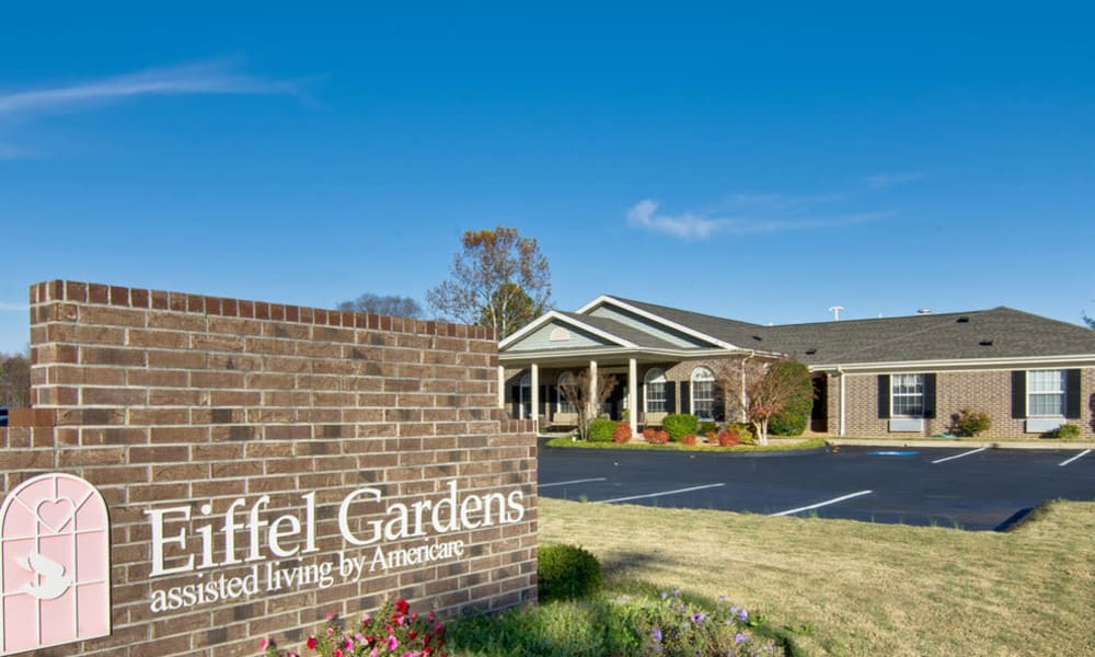 Branding and Signage outside of Eiffel Gardens in Paris, Tennessee