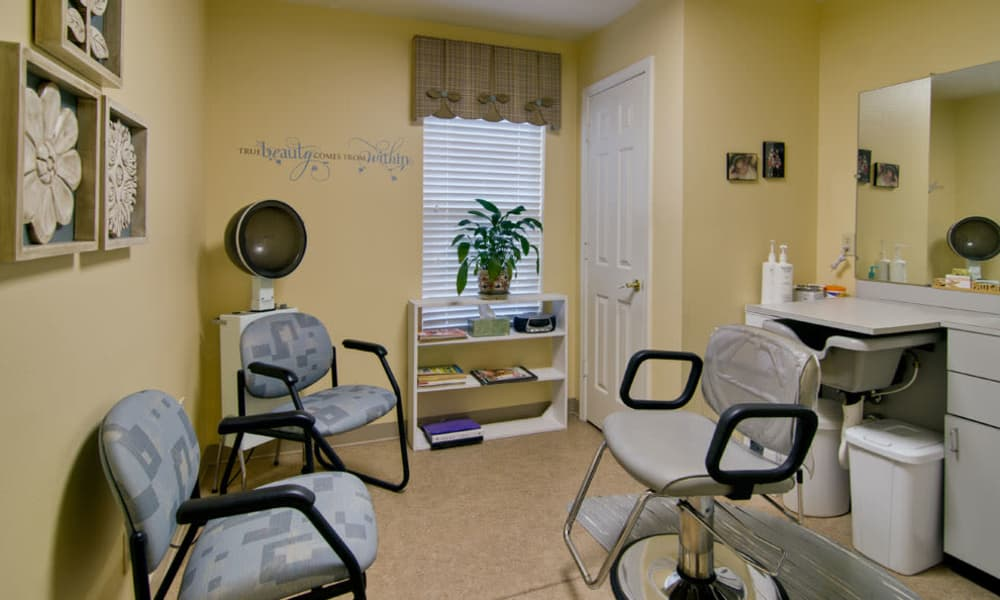 Community salon for residents at Southern Oaks in Henderson, Tennessee