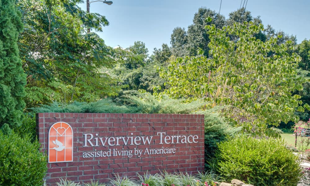 Branding and Signage outside of Riverview Terrace in McMinnville, Tennessee