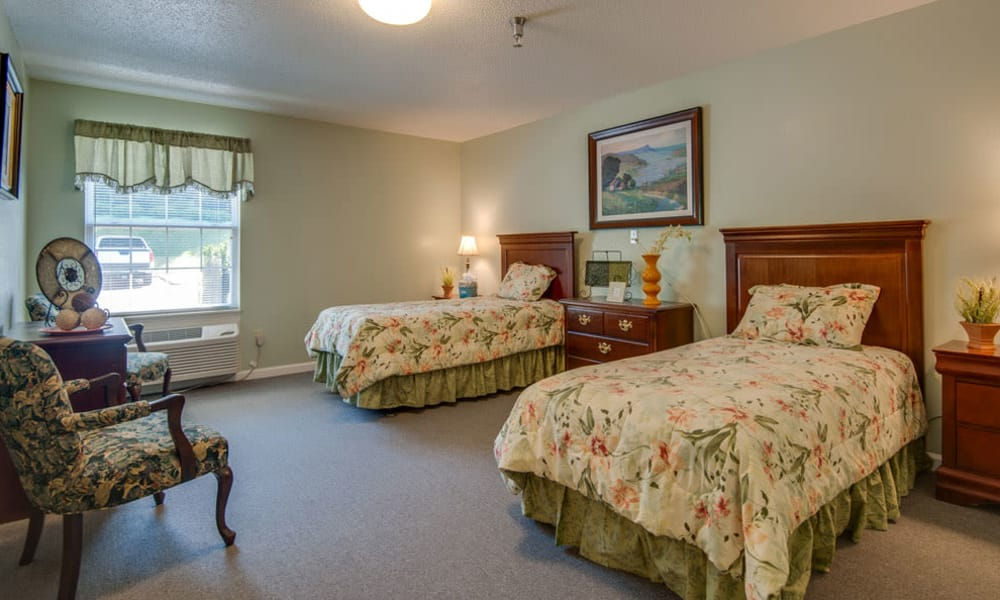 Shared bedroom at Riverview Terrace in McMinnville, Tennessee