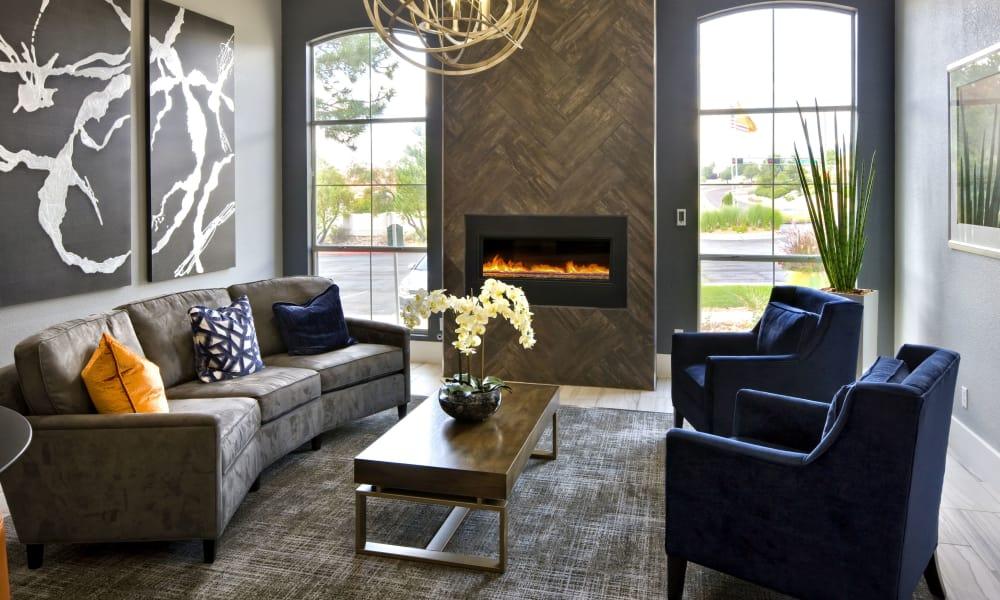 Spacious living room at La Ventana Apartment Homes