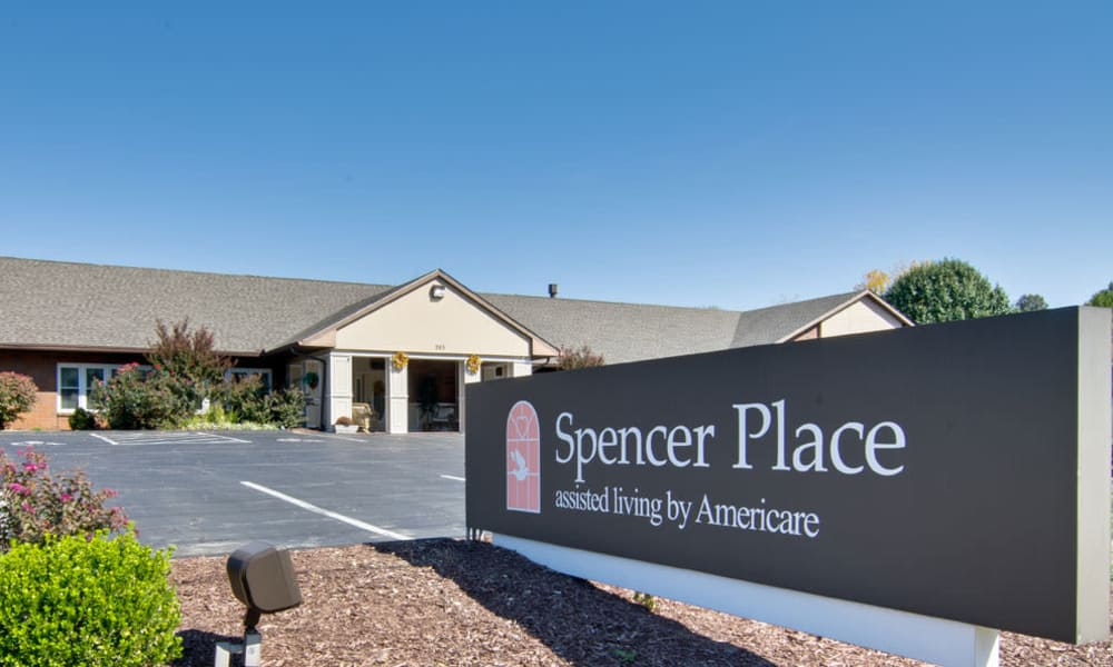 Branding and Signage outside of Spencer Place in Saint Peters, Missouri