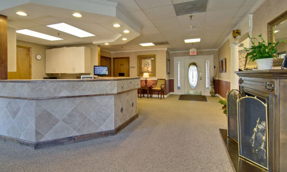 Reception desk at Spencer Place in Saint Peters, Missouri
