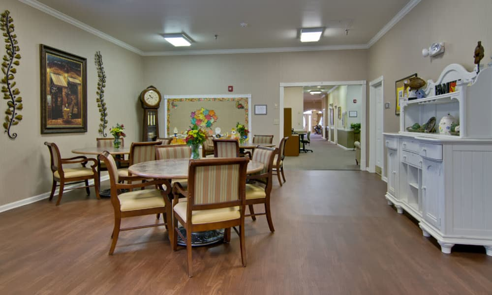 Resident dining room at Park View Meadows in Murfreesboro, Tennessee
