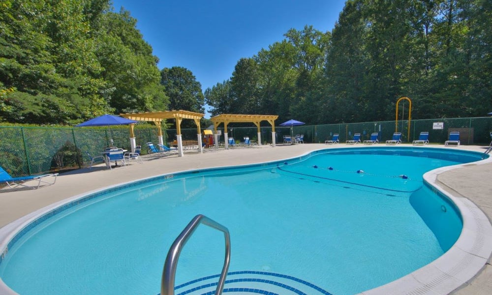 Our apartments in Stafford, Virginia showcase a luxury swimming pool