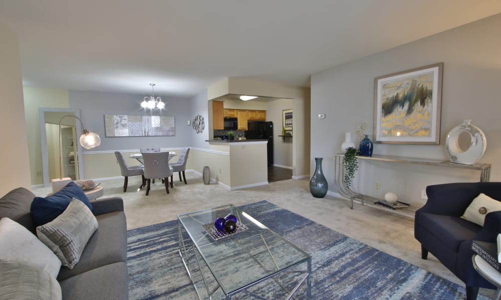 Our apartments in Largo, Maryland showcase a luxury living room