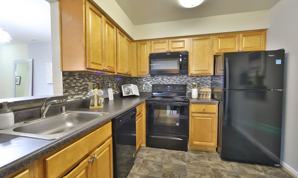 Luxury kitchen at Northampton Apartment Homes in Largo, Maryland