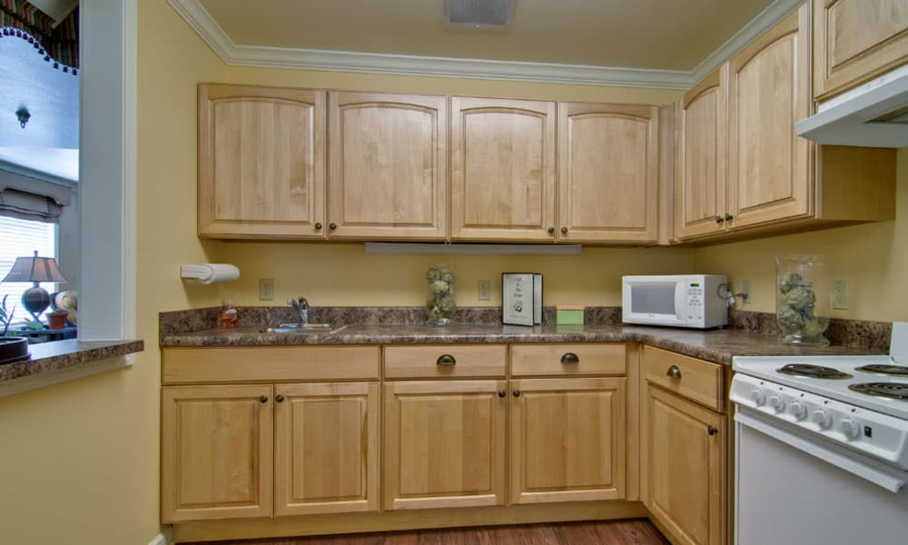 Apartment kitchen at Spring Ridge in Springfield, Missouri