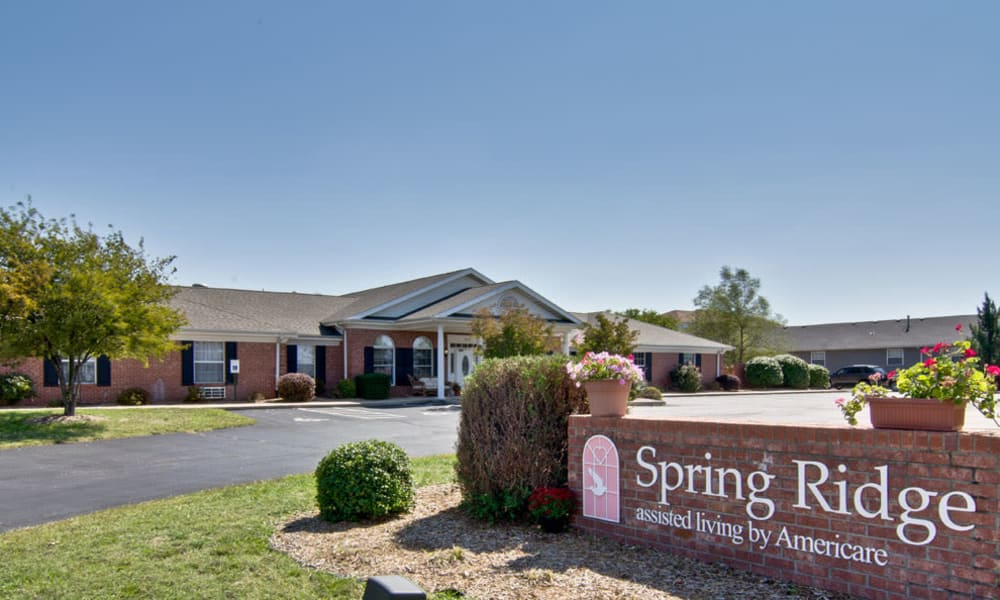 Branding and Signage outside of Spring Ridge in Springfield, Missouri