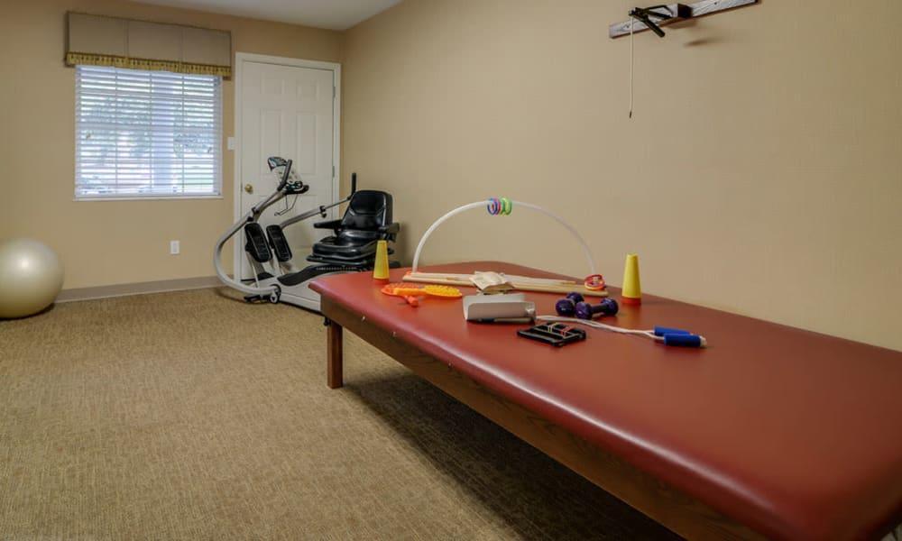 Resident fitness room at Ashbrook in Farmington, Missouri