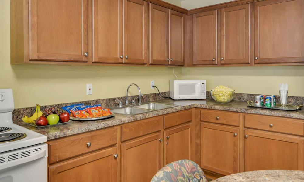 Community kitchen at Ashbrook in Farmington, Missouri