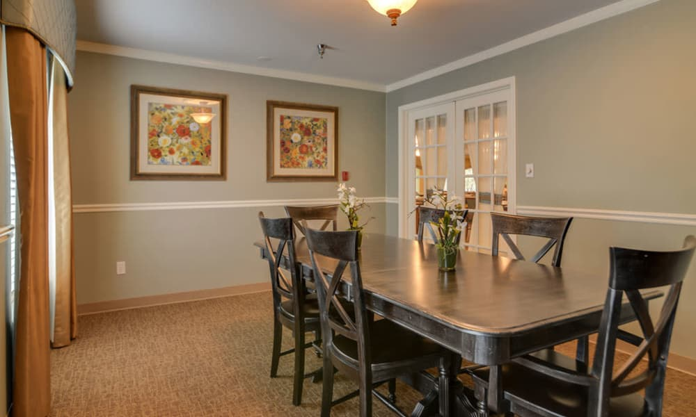Family dining room at Ashbrook in Farmington, Missouri
