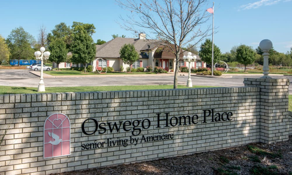 Branding and Signage outside of Oswego Home Place in Oswego, Kansas