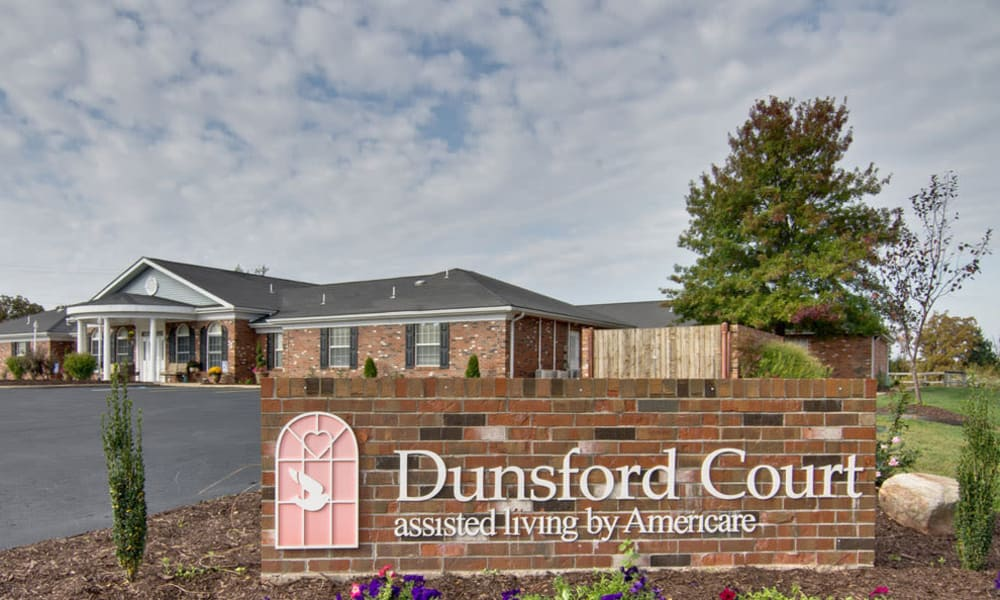 Branding and Signage outside of Dunsford Court in Sullivan, Missouri