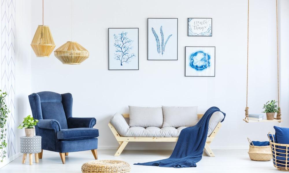 Model living room at Mount Vernon Garden Apartments in Alexandria, Virginia