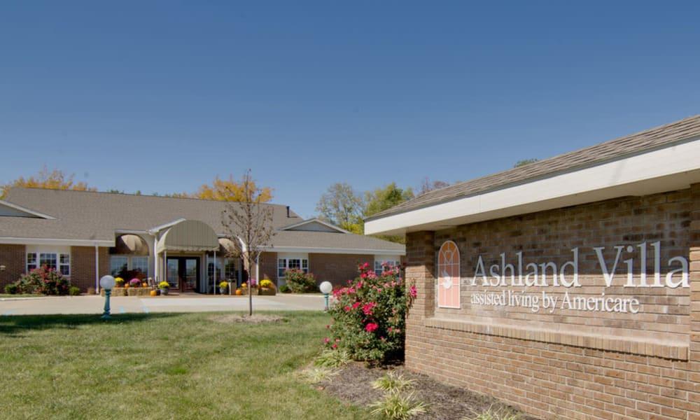 Branding and Signage outside of Ashland Villa in Ashland, Missouri