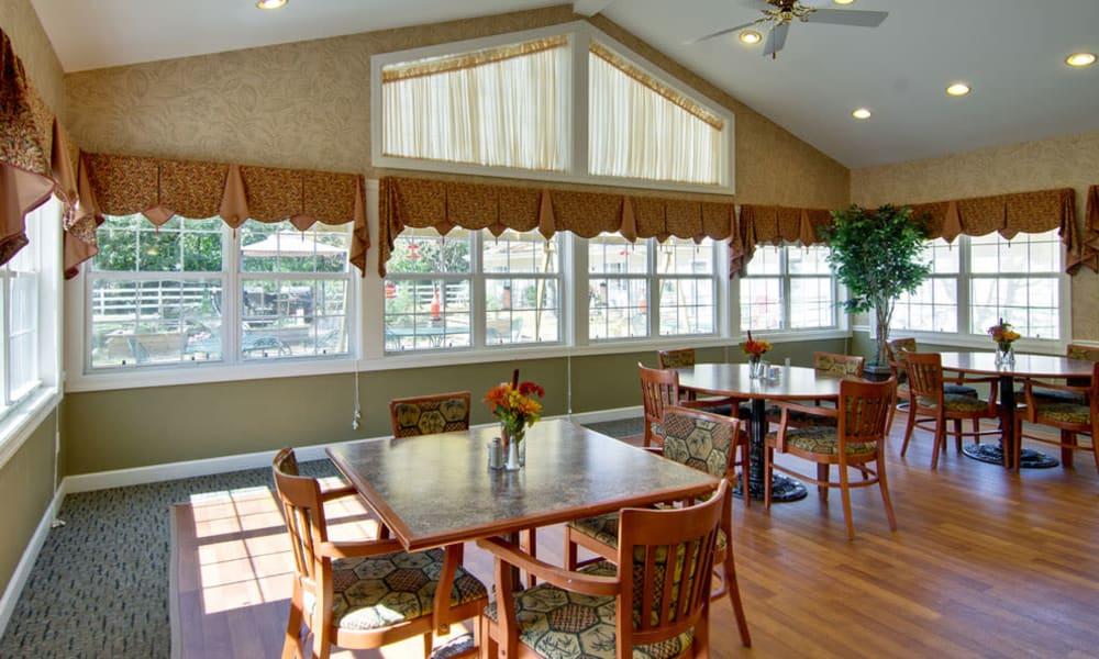 Dining area at the center of Ashland Villa in Ashland, Missouri