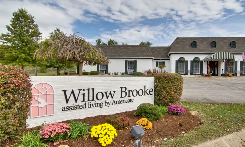 Branding and Signage outside of Willow Brooke in Union, Missouri