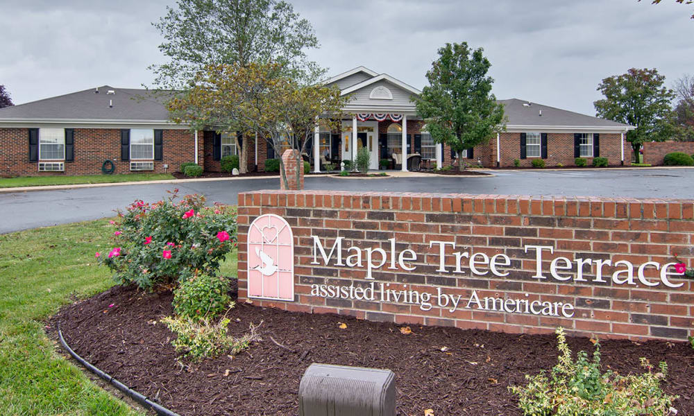Branding and Signage outside of Maple Tree Terrace in Carthage, Missouri